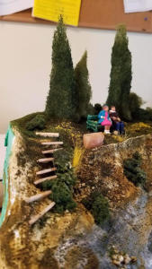 "Gwendy ""Suicide Stairs"" diorama, Courtesy of sixth grader, Clara."