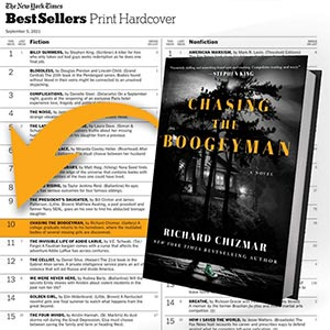 Chasing the Boogeyman a NYT Bestseller